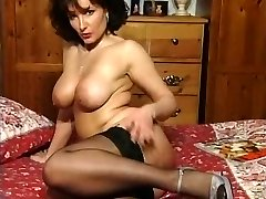 Hot Brunette Busty Cougar Teasing in various outfits V SEXY!