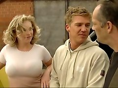 Blond fucked by German construction workers
