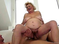 Exotic superstar in Impressive Blonde, Mature adult scene