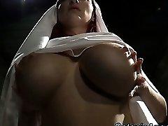 Big baps slutty nun scolds sinner