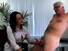 British female dom office ladies jerk CFNM office pervert
