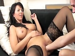 Fisting hot MILFs greedy cootchie till she cums rock hard