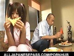 Shino Nakamura gets cum on fucked hairless crack from deepthroated cock