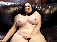 Massive, Busty big tits, pale chick with tattoo masturbating