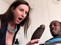 Lara Latex Quenches Her Hunger For Black Man Rod