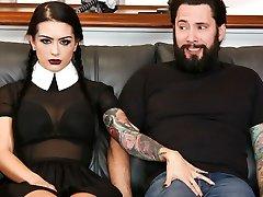 Katrina Jade & Tommy Pistol in Very Adult Wednesday Addams - Katrina Jade - BurningAngel