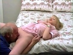 grandpa meatpipe treatment for young blonde