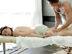 Big tit Russian woman gets a sensuous massage