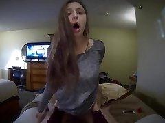 Girlfriend blows and rails a big fuckpole POV