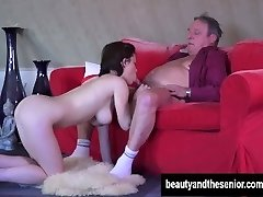 Youthful maid Veronica gets fucked by elderly Harry