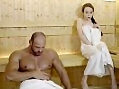 RELAXXXED - Firm fuck at the sauna with enrapturing Russian babe Angel Rush
