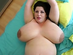 biggest bosoms ever on a 9 month pregnant cougar