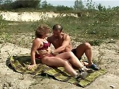 Mature with diminutive bosoms big nipples gets fuck on beach