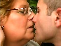 Obese Granny Loves Younger Cock