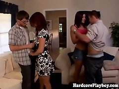 Classy babes boinking at swingers party