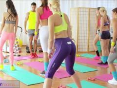 FitnessRooms Youthfull nubiles fuck gym teacher's big cock