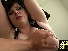 Chubby mature lady Elouise Lust deepthroat and rough fucky-fucky