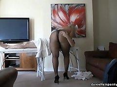pantyhose massage big ass damsel in stockings