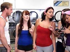 BFFS - college girls smash creepy boy sniffing panties
