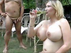 Giant bosoms girls swallow  lot of piss