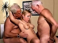 Horny Teen Fucking With Old Farts