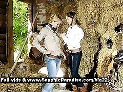 Zoe and Aneta astonished lesbian babes teasing