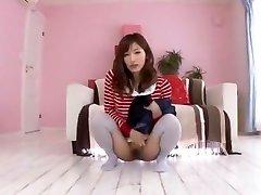 Najhorúcejšie Japonský coura Chika Eiro v Horny Pissing, College JAVA-scény