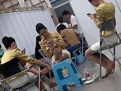 Iskrene Azijskih Hostesa Najlon Noge