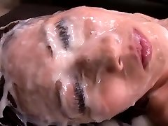 Japanese Lady - Huge Amount Of Cum On Her Face