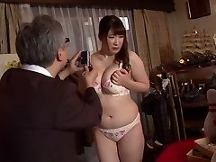 Horny Chinese cockslut Chitose Saegusa in Crazy public, striptease JAV video
