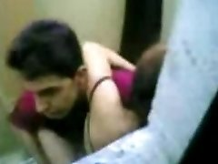 indonesian Maid Fuck With Pakistani Stud in Hong Kong Public Toilet
