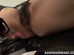 Asian obveznice djevojkom i fuckd frigged