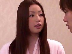 Pohoten Japonski dekle Risa Kasumi v Neverjetno Rimming JAV film