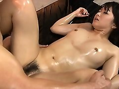Horny babe honeypot fumbled and fucked hard in threesome