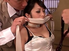 Elegant sweetie gets had threesome fuck after dinner