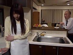 Egzotične japanske kurve Шиори Kamisaki na ludi masturbacija, Rimming scena jau