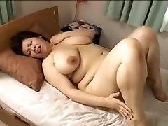 Japonsko veľká krásna žena Mamma