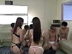 www.JavRock.com - Yui Hatano and Rei Miziuna blowjob spunk swap nurse stockings