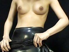 Japonés Vestido De Látex 054