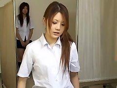 Japonés adolescente putas en caliente de la cámara oculta vídeo médica