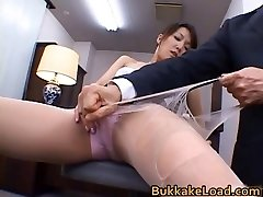 Fantastic real asian Shiho getting jizz