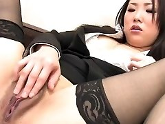 J15 Chinese secretary fingers her pussy