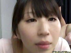 Flexible japanese milf boned in the gym