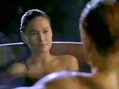 Asian Tia Carrere goes for Dolph Lundgrens Big Blond Trunk