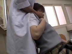 Naughty Asian doctor gave a creampie to his patient
