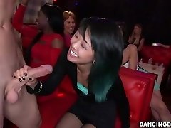 Young Asian Woman deepthroats Stripper