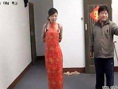 Chinese lady in bondage