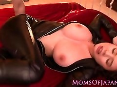 Throated asian cougar vag pounded