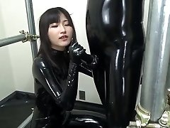 Chinese oral pleasure in full rubber