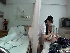 Asian nurse loves fellating two part3